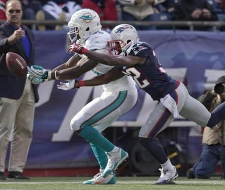 Devin McCourty broke up a pass intended for Charles Clay in the second quarter.