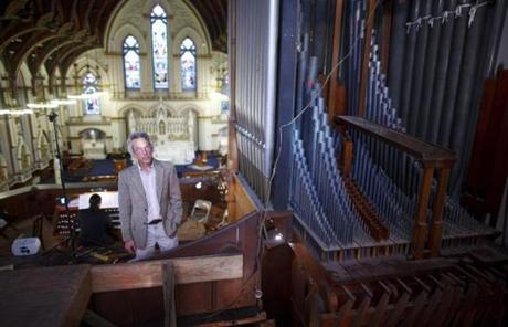 St. Mary's Church in Charlestown has had the same organ for 121 years thanks, in part, to Lee Eiseman.