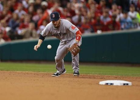 Stephen Drew started a double play to end the second inning.