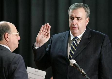 Violent crime in Boston has fallen 30 percent since Edward Davis was sworn in as commissioner.