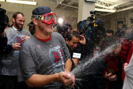 Jake Peavy joined the celebration.