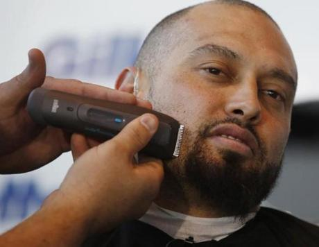Victorino's beard was send to the cutting room floor.