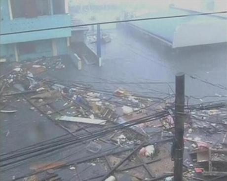 The massive typhoon made landfall with sustained winds of 195 miles per hour and gusts up to 235.
