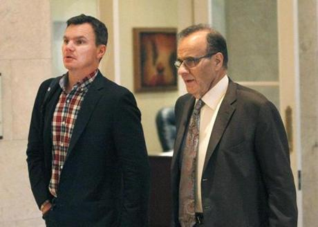 Ben Cherington, left, talked with MLB executive Joe Torre at the GM Meetings on Tuesday.
