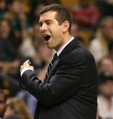 Stevens reacted to a call in the fourth quarter.