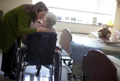 Alison Weingartner of Beverly visited her mother, Rosanne Murphy, at Prescott House nursing home in North Andover.