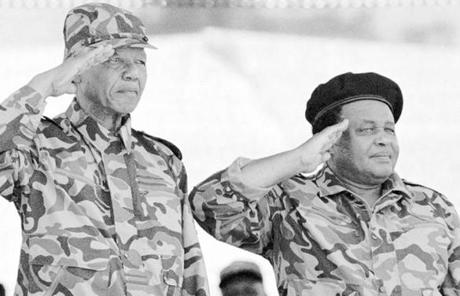 After the government banned the ANC in 1960, he disavowed his commitment to nonviolence and organized the group's military arm.