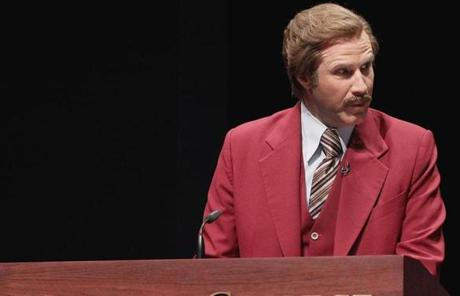 "Ferrell was in town to promote his new film, ""Anchorman 2."" As part of the promotional push, Emerson renamed its communications school after Burgundy for the day"