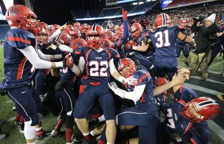 Central Catholic took a 34-17 win over Xaverian in the Division 1 Super Bowl.