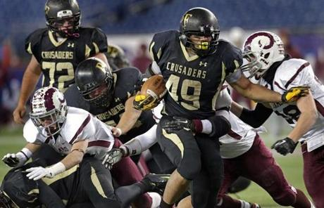Bishop Fenwick's Rufus Rushins ran for a touchdown in the second half of the Division 5 Super Bowl against Northbridge.