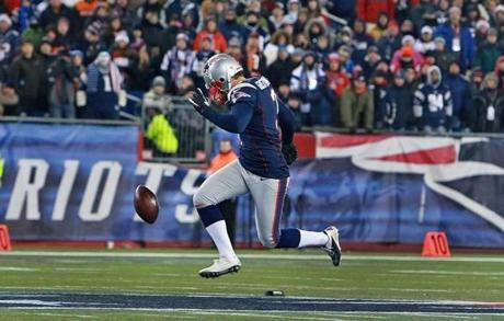 Stephen Gostkowski executed his onside kick that was recovered by the Patriots and helped set up the game-winning touchdown for New England.