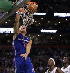 Clippers power forward Blake Griffin threw down a dunk.