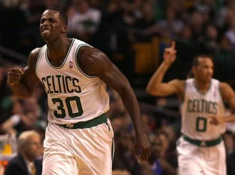 Brandon Bass was excited after a three-pointer by Avery Bradley brought the Celtics within two points in the fourth quarter.