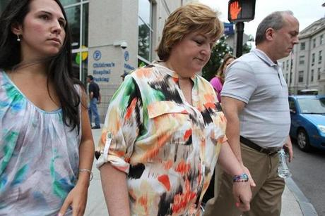 Lou and Linda Pelletier, with their daughter Jennifer, on a visit to another daughter, Justina, at Boston Children's Hospital. A juvenile court judge had backed the state's decision to take emergency custody of the ailing 14-year-old while allowing her parents visitation rights. After that, the girl's stay at Children's would stretch from days to weeks to months.