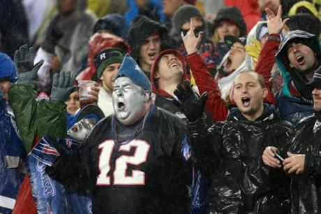 Patriots fans sang along to Creedence Clearwater Revival's