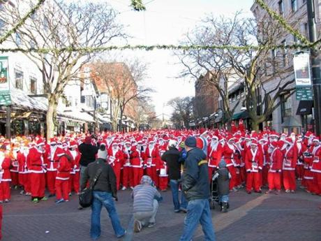 You get a Santa suit when you sign up for the Santa 5K Run & Walk--it's mandatory that you wear it, and they don't want it back. (Ri-Ra Irish Pub)