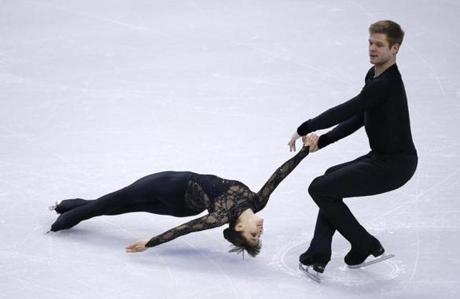 Barnett-Nakamura's clients Gretchen Donlan and Andrew Speroff at the US Figure Skating Championships.