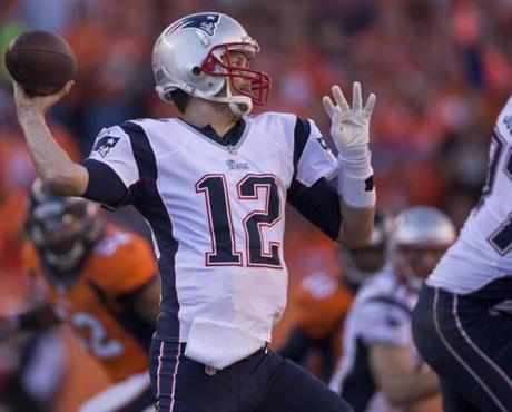 Tom Brady threw a pass in the third quarter.