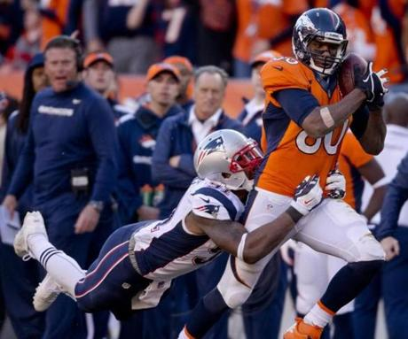 Jamie Collins tackled Julius Thomas after a 37-yard reception.