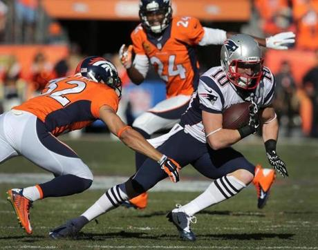 The Broncos were able to shut down the Patriots' running game Sunday afternoon.