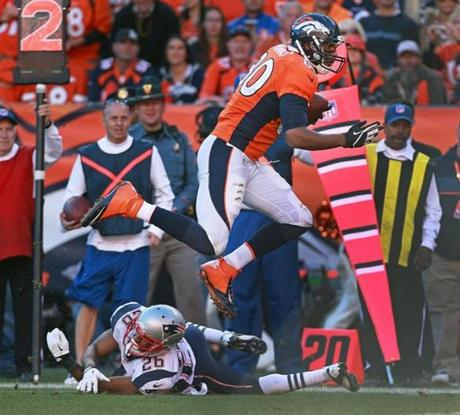 The Broncos went on to take a 26-16 win over the Patriots.
