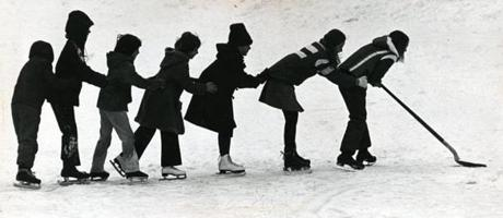 January 16, 1977:  These youngster had some fun as they shovel off the snow