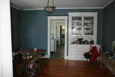 BEFORE: The home's palette was much darker before the redesign.