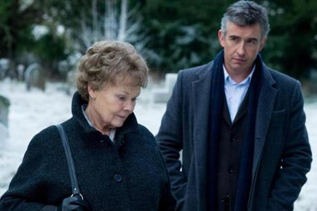 "JUDI DENCH (with Steve Coogan) refuses to forget a stolen child in ""Philomena."""