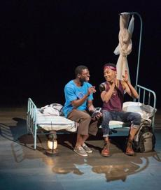 "Michael Luwoye and Griffin Matthews in ""Witness Uganda."""