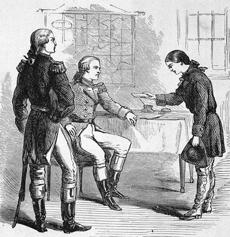 Myers is using the historical tale of the Revolutionary War figure Deborah Sampson (right), as a literary parallel to his own determination to live as a man.