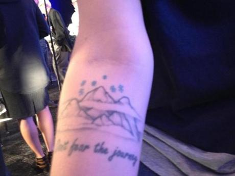 Olympic freeskier Devin Logan's tattoo.