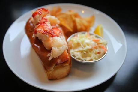 Row 34's warm buttered lobster roll (also available cold and creamy).