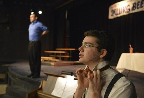 Sixteen-year old Jack Libresco at Emerson Umbrella Center for the Arts rehearses for the play 25th Annual Putnam County Spelling Bee