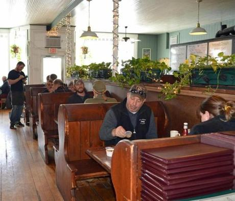 158 Main Restaurant and Bakery, housed in an historic building with high ceilings and wooden booths, is a local favorite.