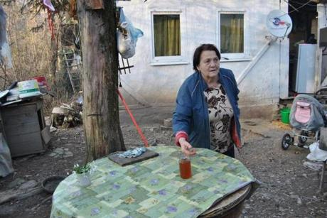 Valentina Kovalyova, a retiree who lives in Solokh Aul village, gets by selling honey, mushrooms, and other items. She also claims to be Russia's No. 1 hockey fan.