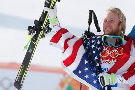 Andrew Weibrecht was the 29th starter in the super-G but he finished a surprising second.