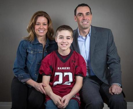 Luke Lentine, 12, has suffered two concussions (one in football, one in soccer). His doctors have told parents Cheryl and John that he can keep playing.