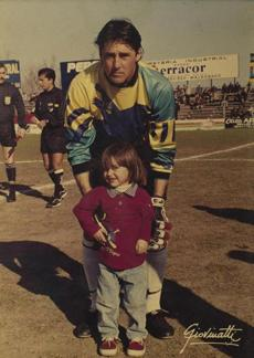 This photo of Fagundez and his father, then a soccer pro in Uruguay, hangs on the teenager's wall.