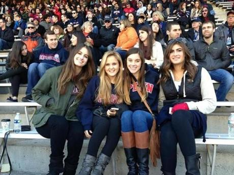 Gillian Reny (2nd from left) with friends at the University of Pennsylvania. University of Pennsylvania, which was her first choice for college, had sent Reny an acceptance letter before the Marathon. She was determined to go as planned, but doctors, especially Harris, were very cautious.
