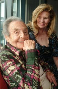 Mrs. Herz-Sommer with Caroline Stoessinger, who wrote a book about her.