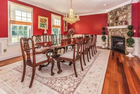 The dining room in the Norwell home.