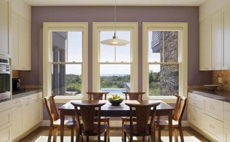 Simple Two Over One Windows And Traditional Trim Add Light Character To The