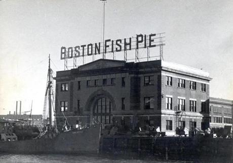 April 2 1946 / fromthearchive / Globe Staff photo by Ed Fitzgerald / Boston had already achieved fame for its high position in the fishing industry. It remained for a high wind to produce a suggestion that might be carried out by a clever Boston chef. A blustery northwest breeze tore the