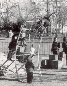 Children played at a new playground on Boston Common.
