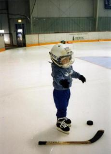 Johnny Gaudreau at 2 years old.