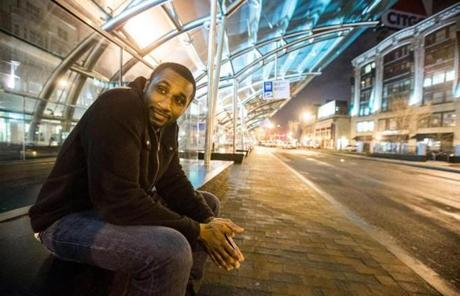 Bobby Wesley, 23, waited for a bus home to Brighton at 2:20 a.m. at Kenmore Station.