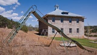A slide in Cokedale, Colo.