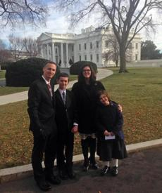 "In December, the Richards went to the White House at the invitation of the Obamas. Jane marveled at the holiday decorations; the president joked in response: ""I was up all night setting them up."""