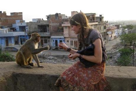 A family photo of Marina Keegan in India in the summer of 2011.