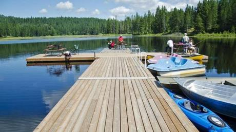 Camping with kids? Look for a campground with built-in fun, like swimming and boating.